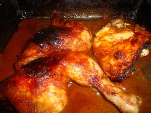 Chicken in BBQ marinade